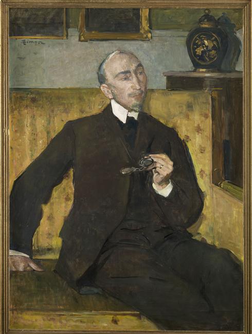 Simon Lucien (1861-1945), Portrait d'Aman-Jean | Ritratto di Aman-Jean, XX secolo, Dipinto, Olio su tela, 120 x 88 cm, Pau, Musée des Beaux-Arts