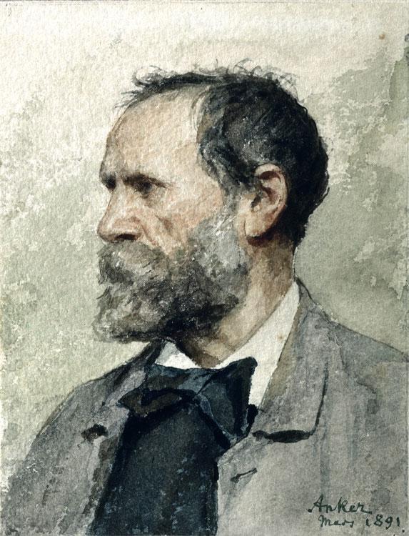 Albert Anker, Autoritratto, marzo 1891