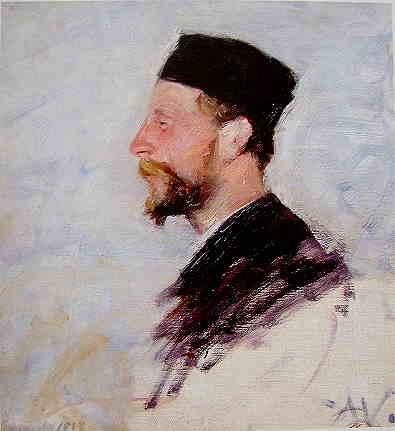 Anna Wengberg, Ritratto di Johan Axel Gustaf Acke