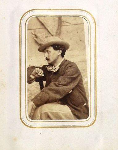 Autore non identificato, Ritratto di Vittorio Avondo seduto di profilo, XIX, stampa fotografica, cm. 14,3 (h) x 11,1 (b), GAM Torino