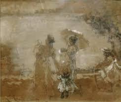 Leonardo Bazzaro, Studio per Tutto è gioia, 1899 tecnica mista su carta, cm. 27 x 32, Milano, collezione privata
