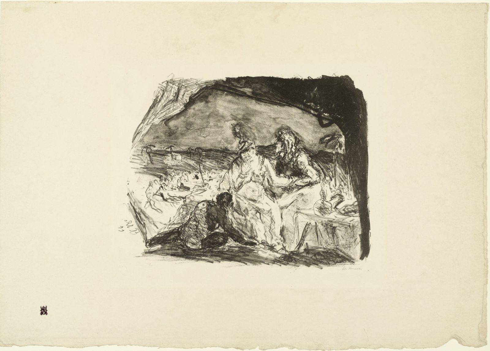 Max Beckman, Sansone e Dalila, 1911, litografia su carta, MoMA, New York