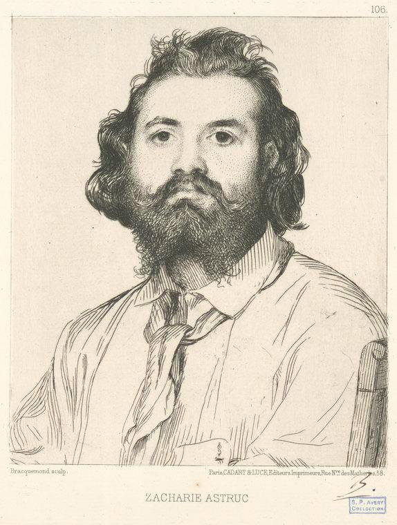 Félix Bracquemond, Ritratto di Zacharie Astruc