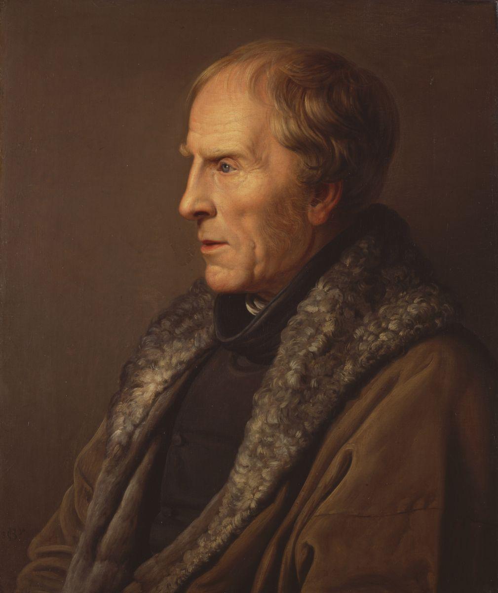 Carl Johann Baehr, Ritratto del pittore Caspar David Friedrich, 1836, Olio su tela, cm. 55,5 x 47,5