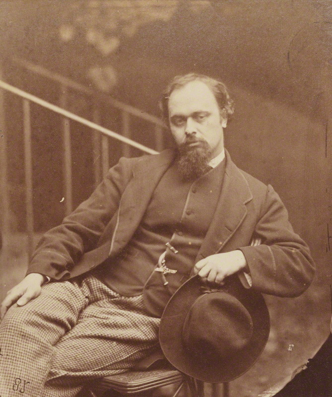 Charles Lutwidge Dodgson (Lewis Carroll), Dante Gabriel Rossetti [stampa all'albume, 1863]