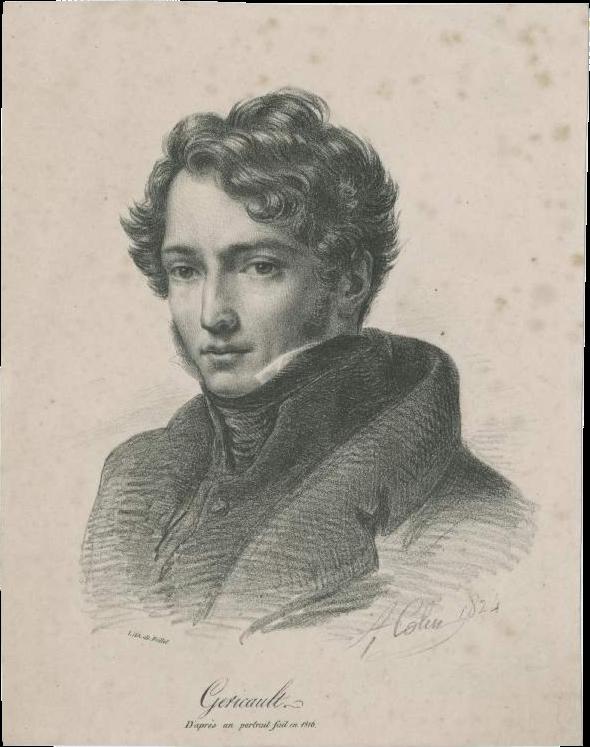 Colin Alexandre-Marie, Théodore Géricault, da un ritratto fatto il 1816, 1824
