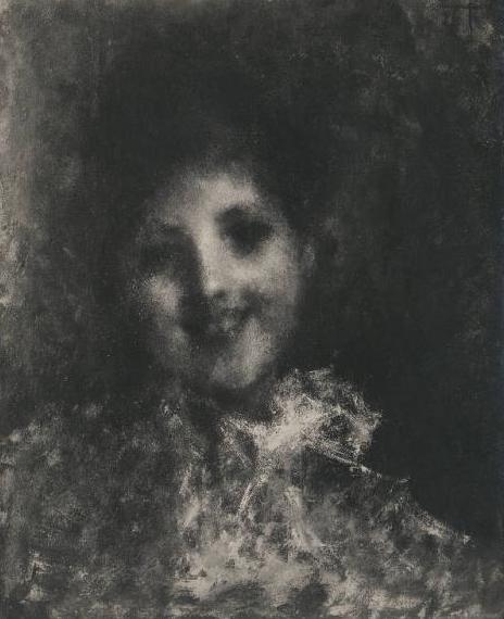 Tranquillo Cremona, Sorriso (foto di autore anonimo ripresa tra il 1925 e il 1933)