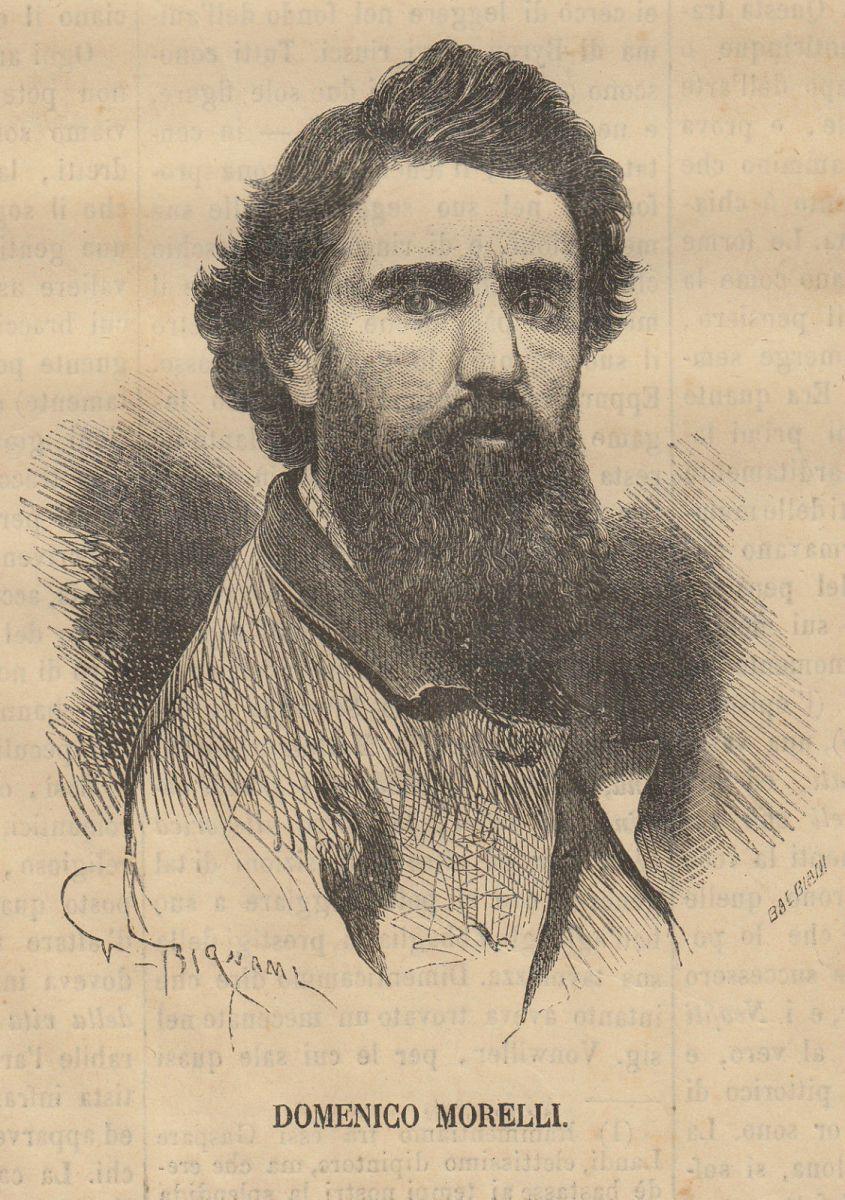 Bignami, Domenico Morelli, Xilografia, 1869