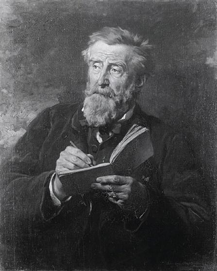 Eduard Dubufe, Ritratto del pittore Henri Harpignies, 1867, Olio su tela, cm. 81 x 65, Versailles, Musée National du Château de Versailles