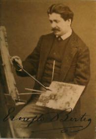 Ernesto Bertea al cavalletto