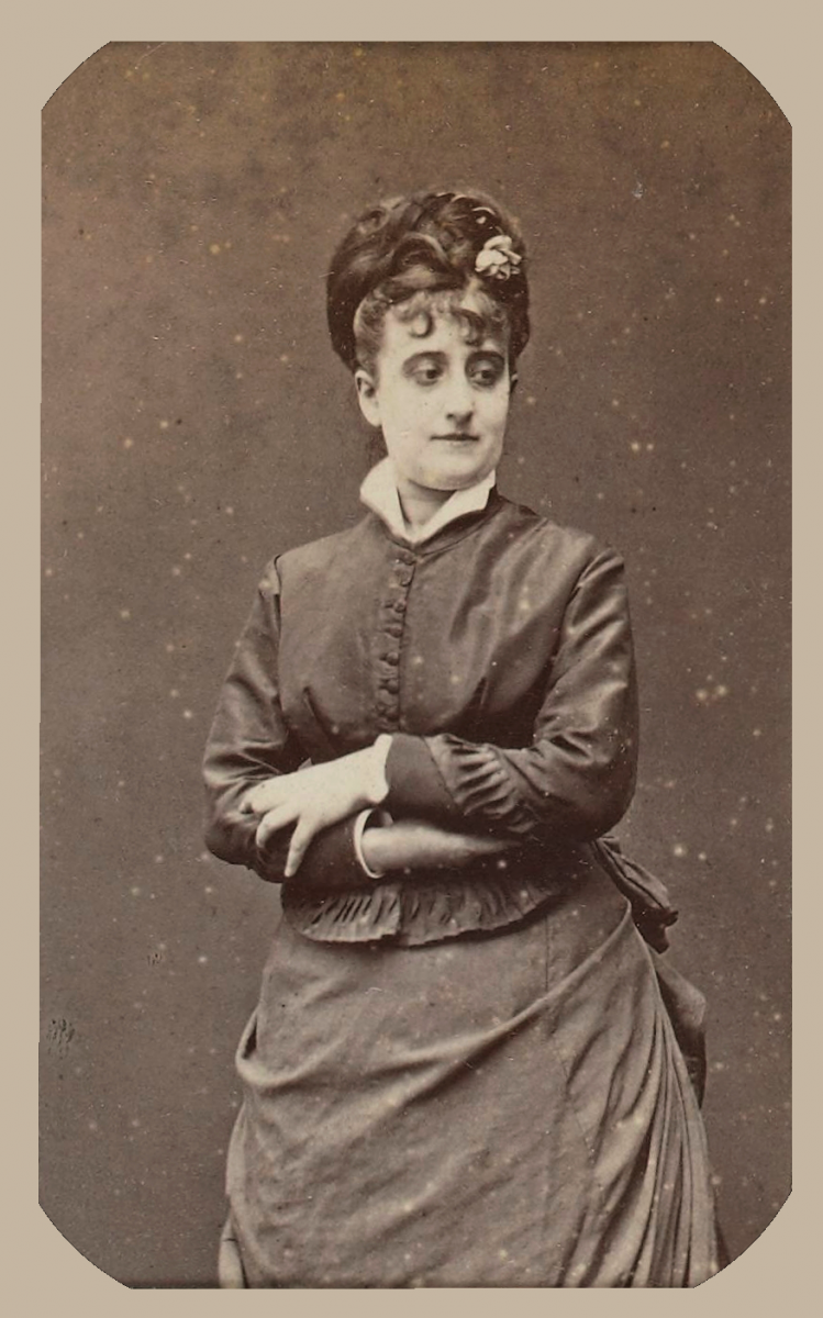 Eva Gonzalès, 1874 circa, da un album posseduto da Édouard Manet, Bibliotèque nationale de France, Paris