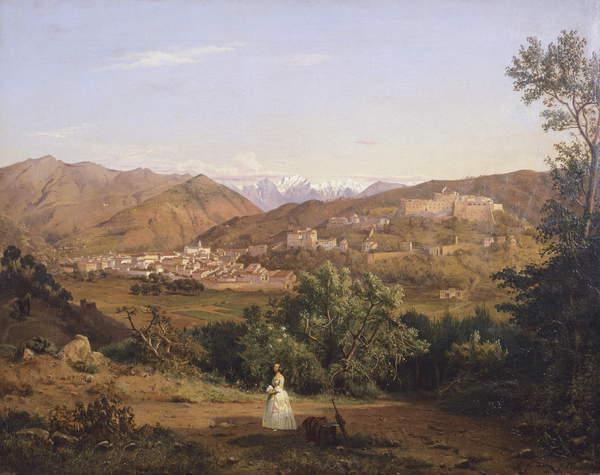 Antonio Fontanesi, Veduta di Massa, 1843