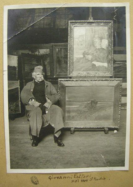 Giovanni Fattori nel suo studio