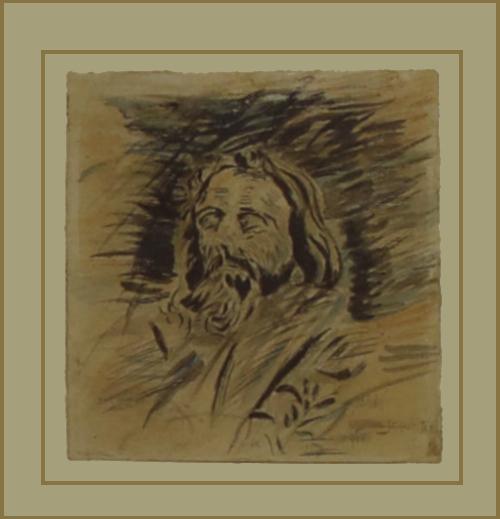 Giovanni Giacometti, Segantini sul letto di morte, 28 settembre 1999, Acquerello e matita dura su carta, USA, Collezione privata