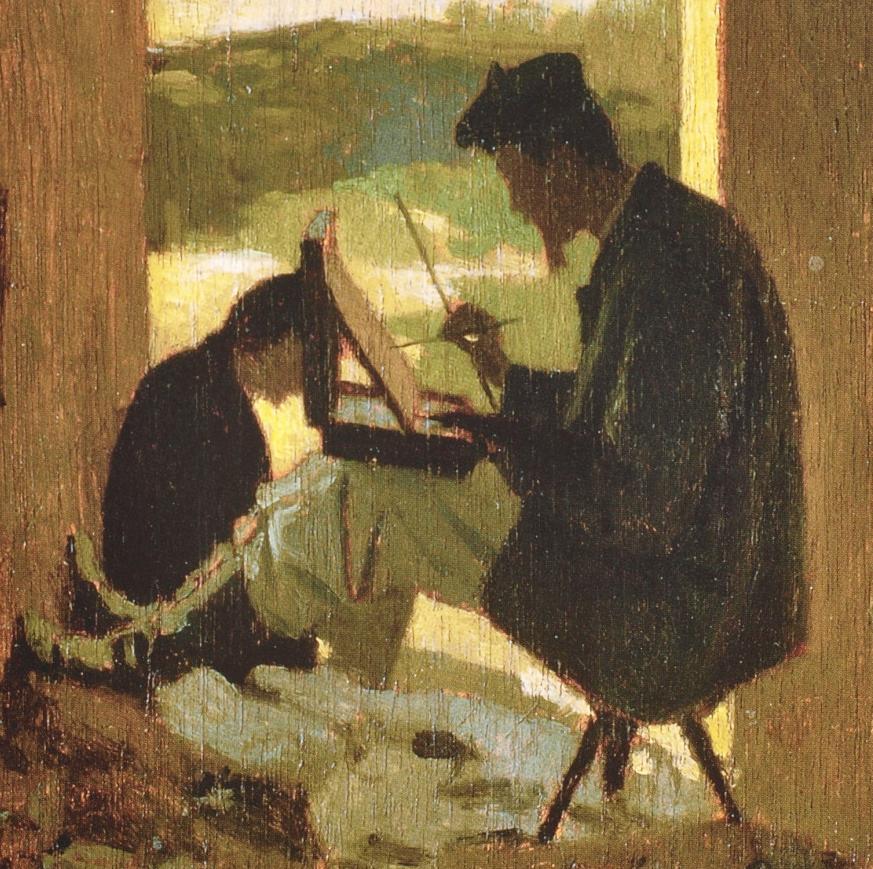 Giuseppe Abbati, Stanislao Pointeau che dipinge [dettaglio]