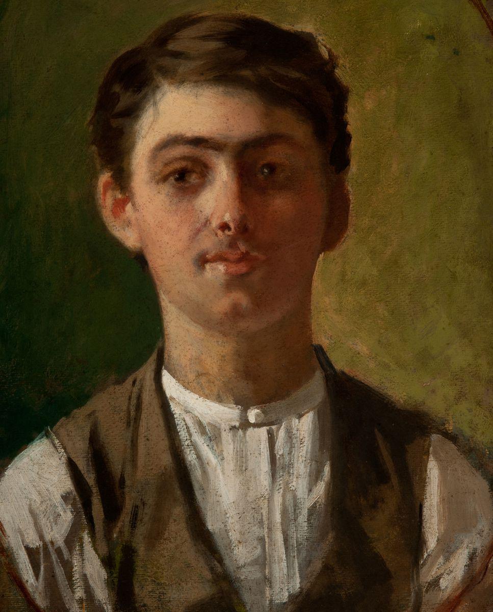 Giuseppe Pellizza da Volpedo, Autoritratto [dettaglio]