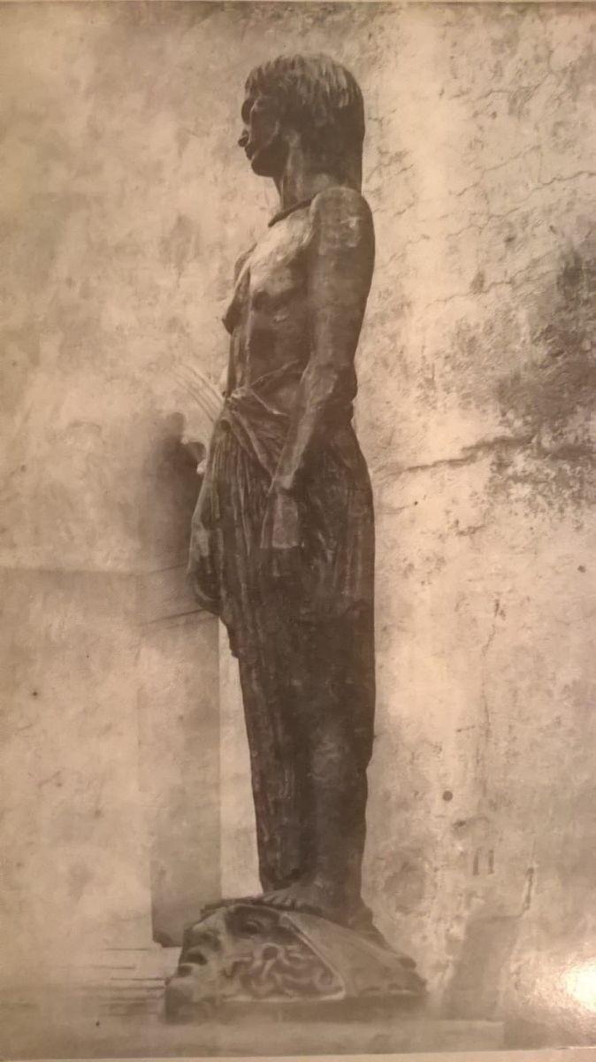 Rubaldo Merello, Il Dolore, post 1914 - ante 1919, scultura, bronzo, cm 218 di altezza, Collezione privata, Genova