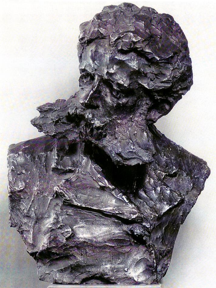 Paolo Troubetzkoy, Daniele Ranzoni, XIX secolo, 1889/1890, Gesso patinato a bronzo, 59 x 43 x 35 cm