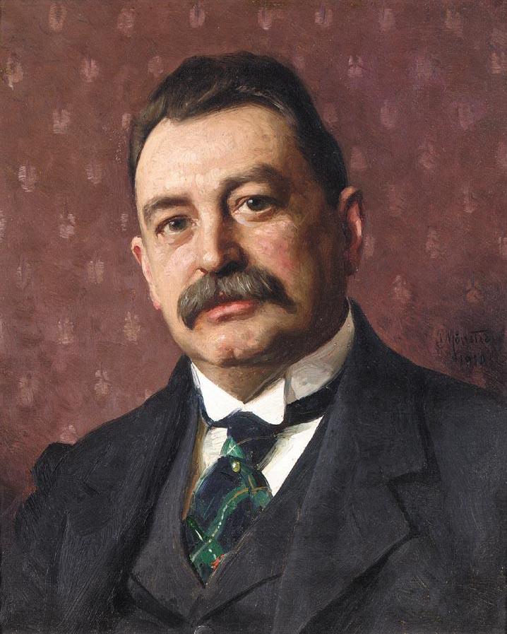 Peder Mønsted (Danish, 1859-1941), Ritratto di Anders Zorn
