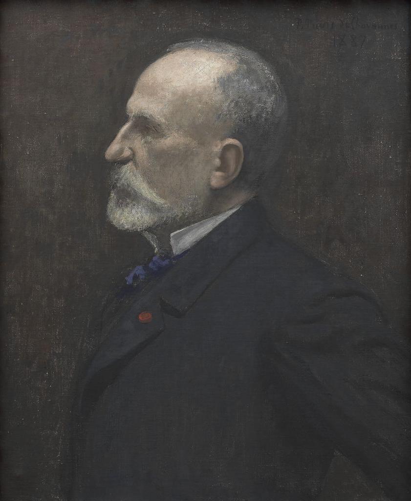 Pierre Puvis de Chavannes, Autoritratto, 1887