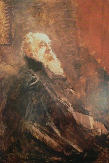 Pompeo Mariani, Ritratto di Mosè Mosè Bianchi, 1900