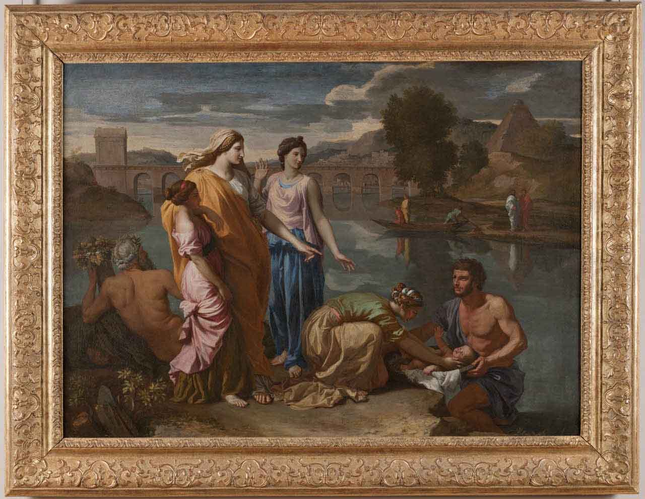 Poussin, Mosè salvato dalle acque