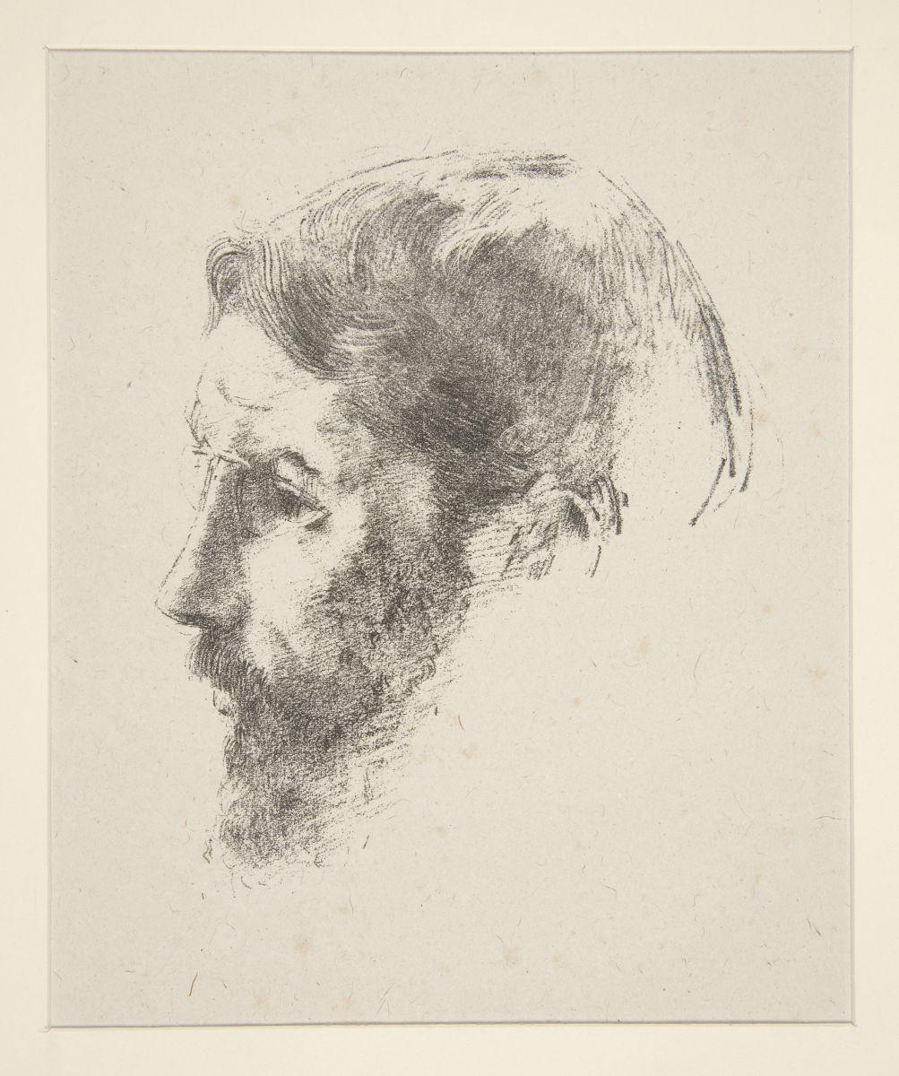 Odilon Redon, Ritratto di Pierre Bonnard, 1902, Litografia su carta, cm. 29,8 x 21,7 (foglio)