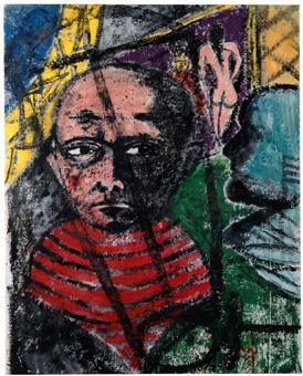 Stefan Szczesny, Max Beckmann, 1991, Tecnica mista su tela, cm. 200 x 160, Kunsthalle Bremen, inv. n. 1338-1992/2