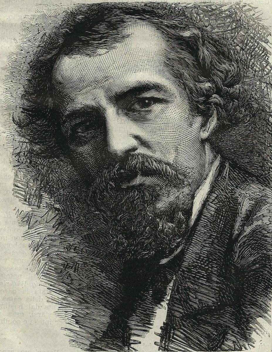 Tranquillo Cremona in una stampa del 1878