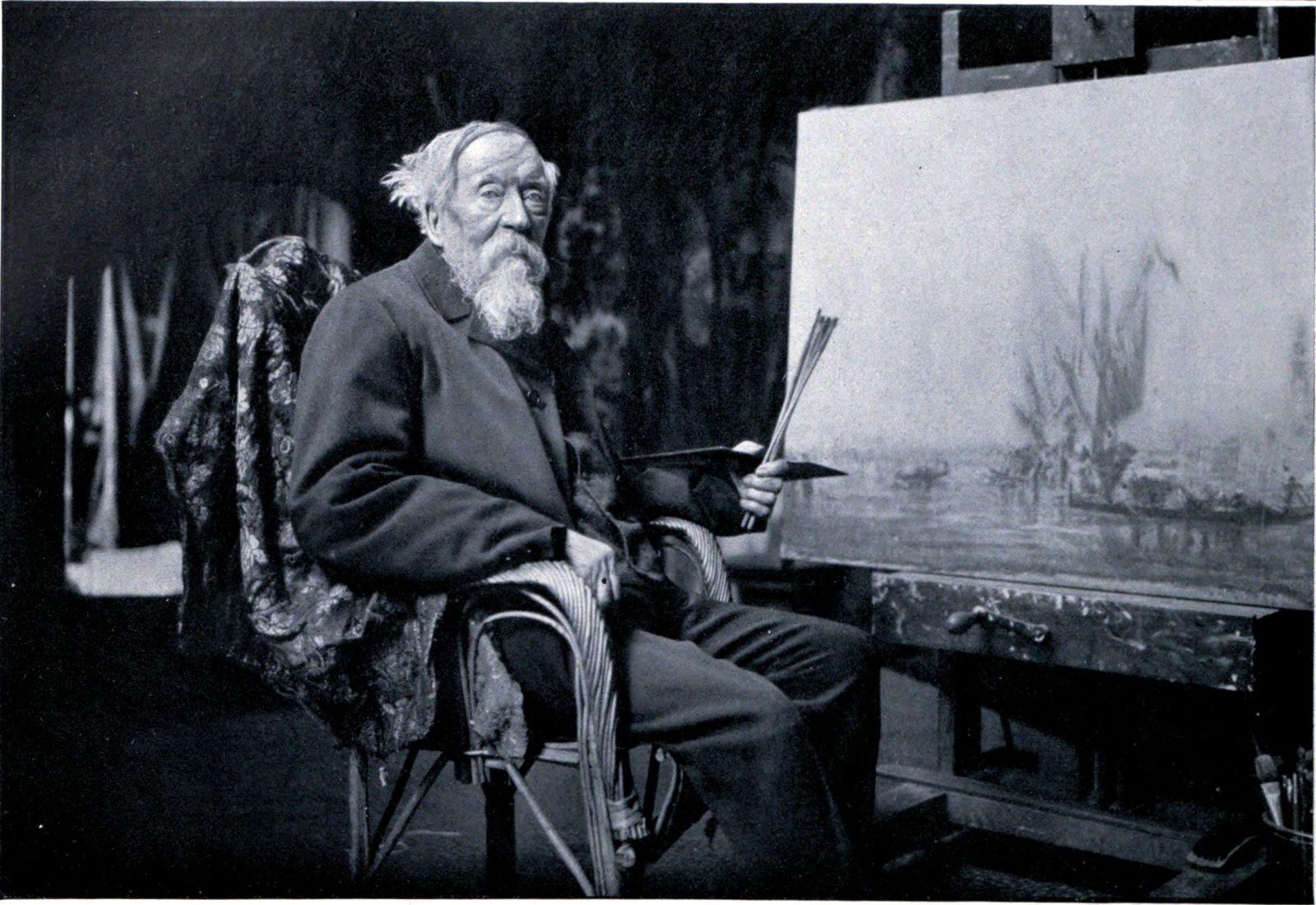 Félix Ziem nel suo studio