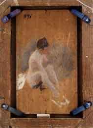 Zorn, Nudo femminile seduto. Schizzo