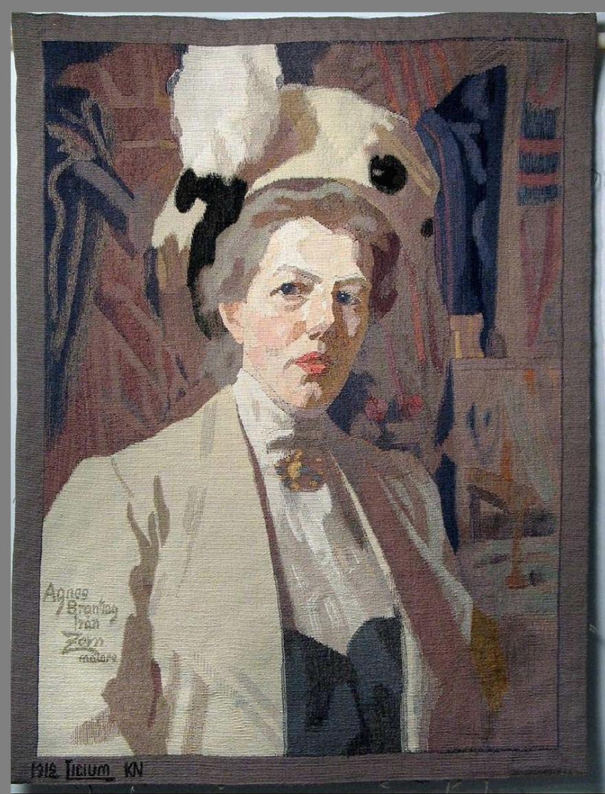 Anders Zorn, Ritratto di Agnes Brantig (tessuto)