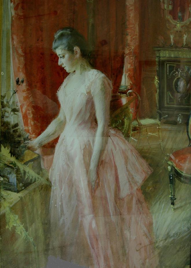 Anders Zorn, Ritratto di Mis Anna Cassel [dopo il restauro]