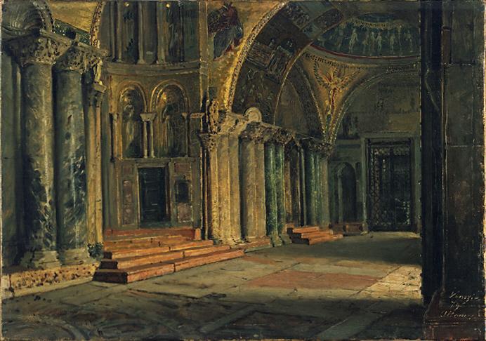 Interno Della Basilica Di San Marco A Venezia Arte