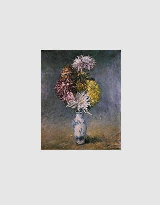 Crisantemi in un vaso arte - Crisantemi in vaso ...