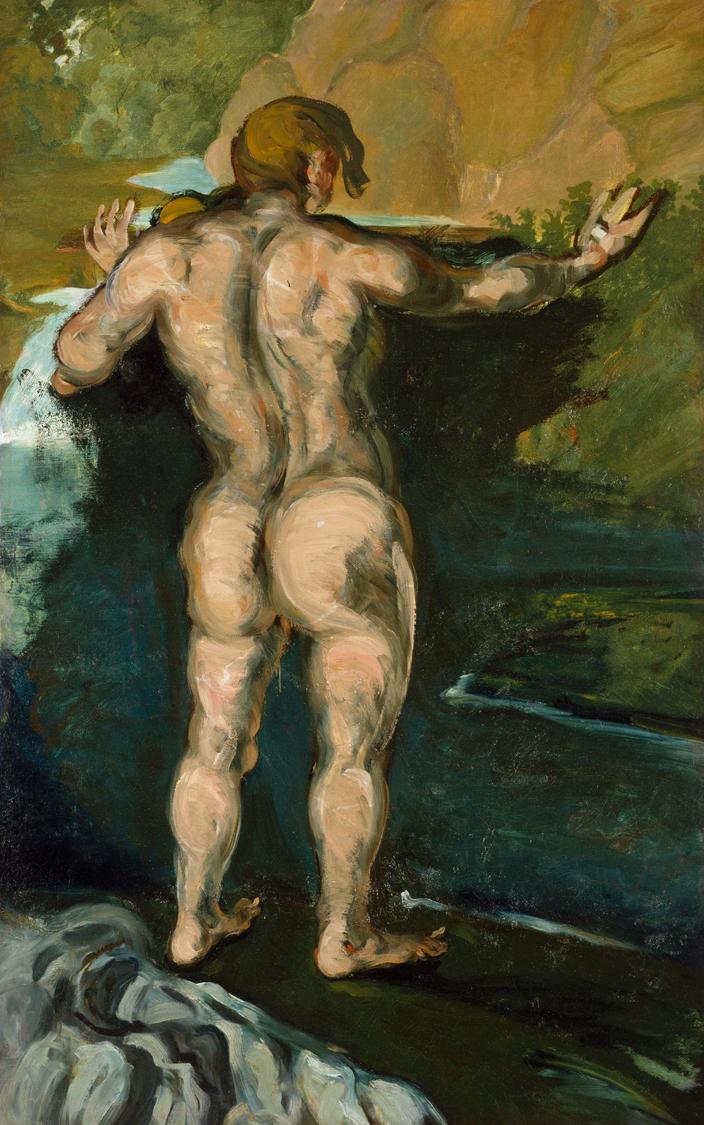 Cezanne, Il bagnante contro la roccia.jpg