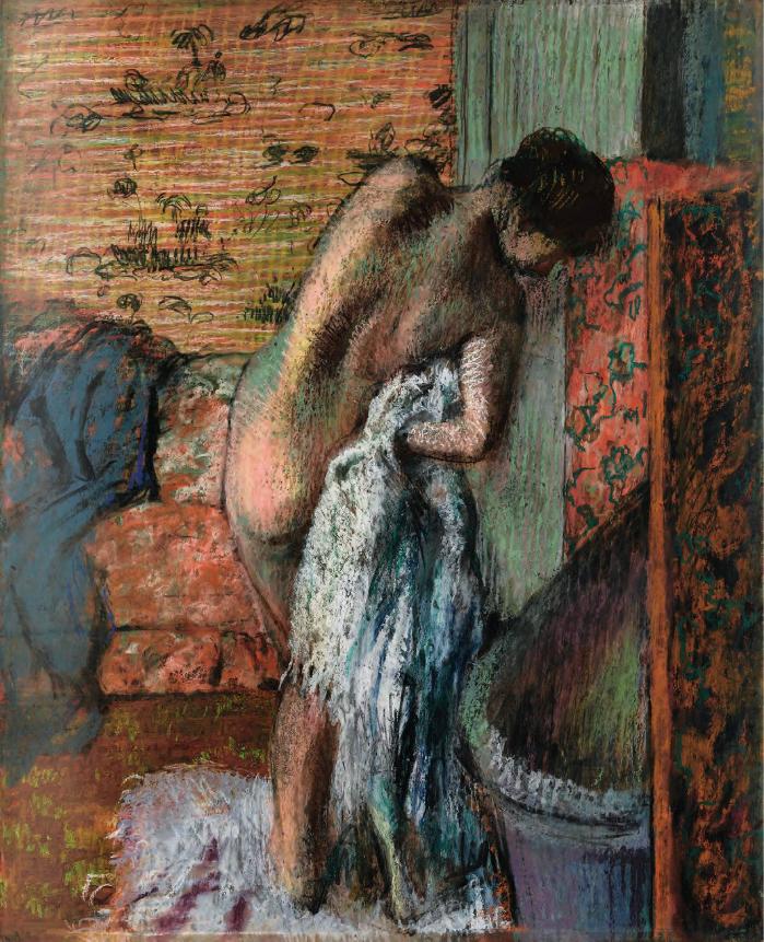 Dopo il bagno donna che si asciuga arte - Donne che fanno il bagno ...