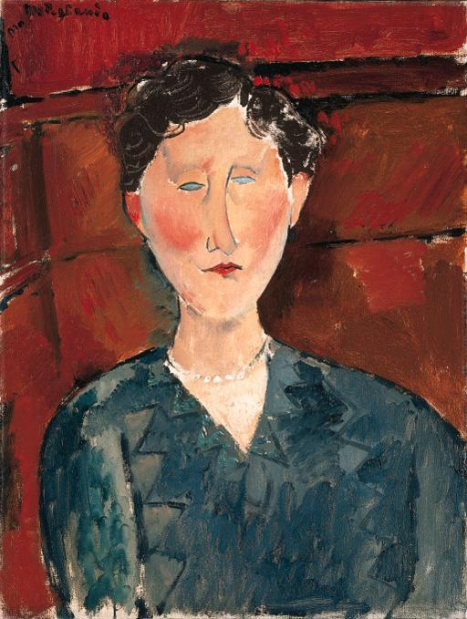 Ritratto di donna in corpetto blu | arte