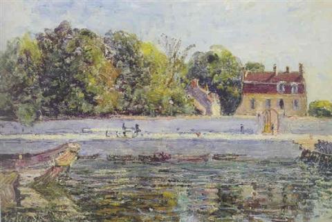 Saint mamm s casa sulla riva del canale del loing arte for Piani casa sulla riva