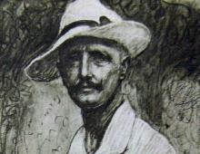 Angelo Dell'Oca Bianca, Autoritratto [dettaglio]