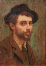 Giuseppe De Nittis, Ritratto del pittore Bernardo Celentano, 1867, olio su tavola, cm. 21,1 x 15,8, Collezione privata