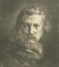 Charles Émile Jacque, Autoritratto, 1862