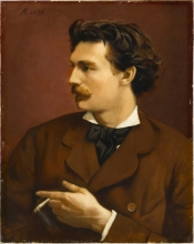 Anselm Feuerbach, Autoritratto | Self-portrait [1875], Staatsgalerie Stuttgart