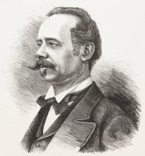 Ritratto di Domenico Induno, incisione da L'Illustrazione Italiana, Anno 5, n. 46, 17 novembre 1878