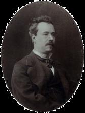 Ritratto fotografico di Edoardo Dalbono, 1885 circa