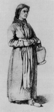 Giuseppe Abbati, Contadina di Castelnuovo con brocca   Peasant woman from Castelnuovo with a pitcher