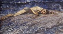 Acke, Amante del mare   Havslyssnaren   Sea lover, 1909, Prins Eugens Waldemarsudde, Stoccolma