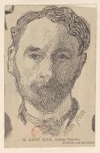Edmond Aman-Jean, Autoritratto | Portrait par lui-même, Disegno, Bibliothèque nationale de France, Paris