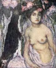 Edmond Aman-Jean, La capraia | La chevrière | The goatherd