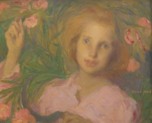 Aman-Jean, Ragazza coi fiori | Jeune fille aux fleurs | Young girl with flowers
